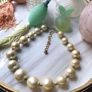Vintage faux paper pearl necklace